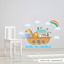 monogram wall decals for nursery noah u0027s ark printed wall decal wallums noahs ark nursey