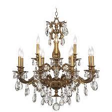 Bronze Chandelier With Crystals Schonbek Milano 32 1 2