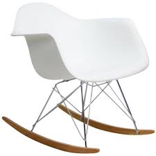 furniture stunning white eames chair replica with rocking legs