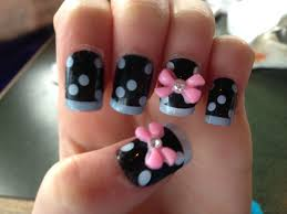 cute fake nails with 3d bows i bought it at claires nail art