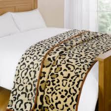 dreamscene animal print faux fur large mink throw warm fleece bed