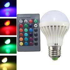 e27 3w ir remote control 16 color change rgb led ball bulbs 85