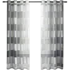 Black And White Curtain Designs Modern Striped Curtains Drapes Allmodern