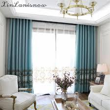 tende per sale da pranzo lino ricamato fiori ville nello specchio tende per soggiorno sala
