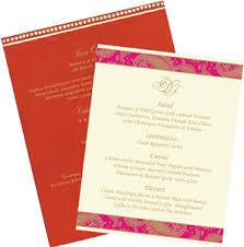 Sample Indian Wedding Invitations Wedding Menu Cards Wedding Menu Cards Text Wedding Menu Cards