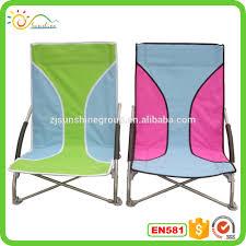 Low Beach Chair Promotional Low Seat Sun Beach Chair Lightweight Foldable Sand