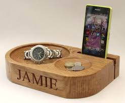 mobile phone stand and charging station ideal personalised