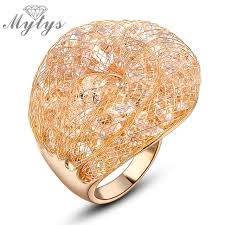 gold wire rings images Buy mytys hot sale ring gold wire mesh net rings jpg
