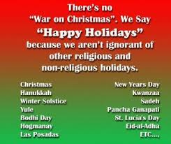 what s with the conflict merry happy holidays n a h
