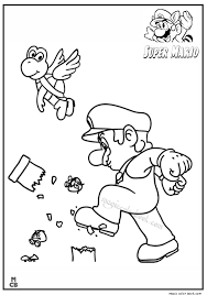 super mario coloring pages 05