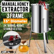 manual 3 6 frame stainless steel honey extractor honey oil 15 inch
