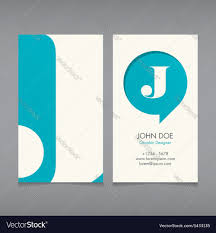business card template letter j royalty free vector image