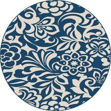 Navy Outdoor Rug 8 Floral Navy Blue Indoor Outdoor Rug Garden City Rc