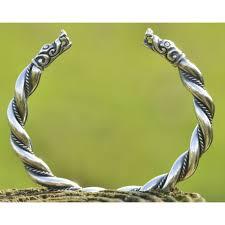 braid hand bracelet images Dragon heads silver hand made braid woven viking replica from gotland jpg