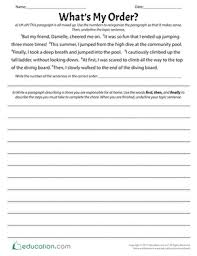 sequencing worksheets u0026 free printables education com