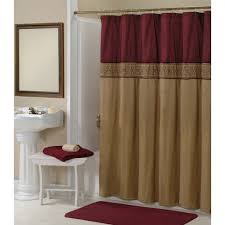 this addison gold maroon shower curtain comes with pure elegance