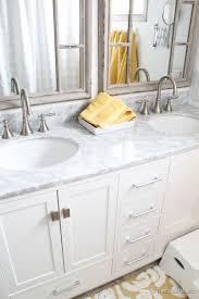 Vanity Bathroom Mirrors Remodelaholic Updated Bathroom Single Sink Vanity To Double Sink