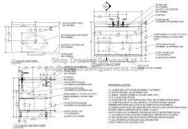 custom millwork shop drawing