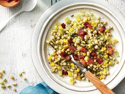 thanksgiving corn side dishes field pea corn and bacon salad recipe southern living