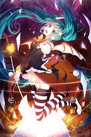 halloween miku by nanatsuki jinko anime autumn pinterest