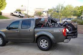 nissan frontier pickup bed size pic of motorcycles secured in your truck bed please page 3