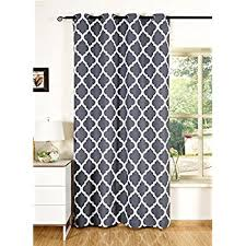 Living Rooms With Curtains Amazon Com Hlc Me Lattice Print Thermal Insulated Blackout Window