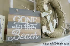 shelly bailey gone to the beach summer home decor sign