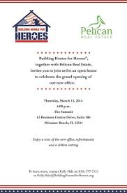 Office Opening Invitation Card Grand Opening Of Our New Office Building Homes For Heroes