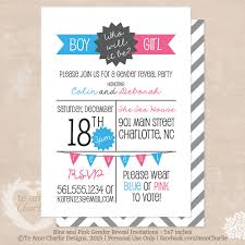 boy or who will it be gender reveal party invitations