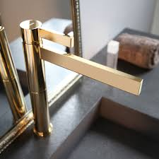 Designer Bathroom Sinks by Polished Gold Waterfall Bathroom Faucet