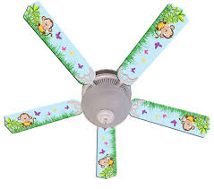 Banana Themed Lamps Kids Ceiling Fan Monkey Jungle Decor Lighting Baby And Kids