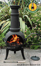 Bronze Cast Iron Chiminea Cast Iron Chiminea Barbecuing U0026 Outdoor Heating Ebay