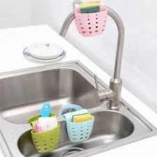 Kitchen Sink Holder by Kitchen Portable Hanging Drain Bag Basket Bath Storage Gadget