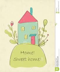 home sweet home card stock vector image 50075318