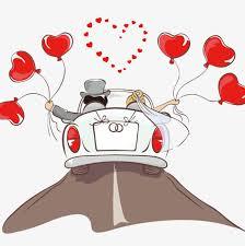 dessin mariage dessin de voiture mariage mariage en forme de coeur fichier png