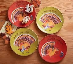 thanksgiving plates pottery barn