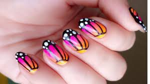 diva pink chrome nails striped starburst long nail art design