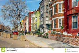 Row Houses by Washington Dc Rainbow Row Houses Editorial Photography Image
