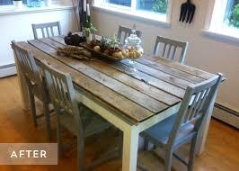 transformer une table de cuisine diy relooker une table avec des lames de parquet floriane lemarié