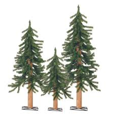 sterling 2 ft 3 ft and 4 ft set of pre lit alpine artificial