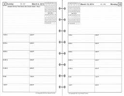 2 page monthly planner template daily planner refill one page per day high quality paper zoom