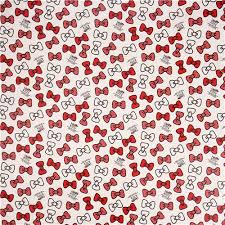 hello ribbon white hello ribbon bow sanrio laminate fabric from japan