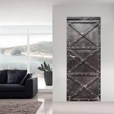 strange home decor online shop 3d steel door wall sticker diy door stickers home