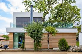 contemporary house integrating trees in its modern architecture 2