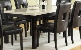Dining Room Table Tops Dining Room Fair Dining Room Decoration With Black Leather Dining