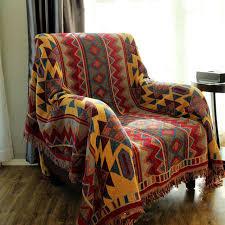 plaid coton pour canapé chausub bohème chunky coton plaid couverture pour canapé couvre
