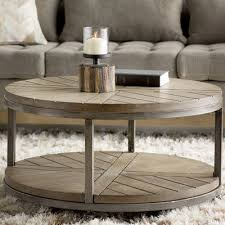 round coffee table with casters amazon com drossett wood iron design round coffee table with