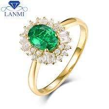 fine emerald rings images Fine jewelry real 14k yellow gold colombia emerald ring natural jpg
