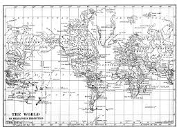 Printable World Map Black White World Map Printable File Instant Download Large