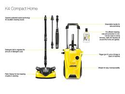 T Racer Patio Cleaner by Karcher Kark4comh 240v K4 130 Bar Compact Home Pressure Washer